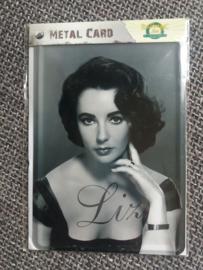 Metalen Postkaart Liz Taylor