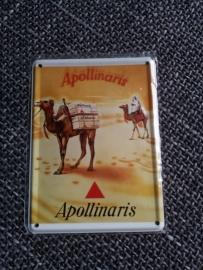 Metaalplaatje Appolinaris 8 x 11 cm