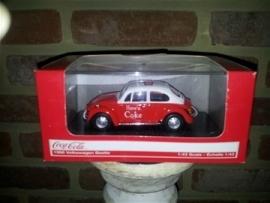 Schaalmodel 1966 Volkswagen Beetle Coca Cola  1/43