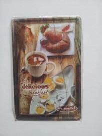 Metaalplaat Delicious breakfast