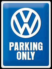 Metaalplaat Volkswagen Parking Only