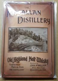 Metaalplaat Whiskey Macallan Distillery