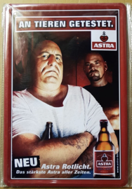 """Metaalplaat bier """"Astra"""""""
