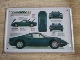 Metaalplaat Ferrari Dino