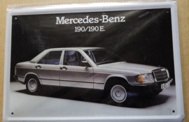 Metaalplaat Mercedes-Benz 190/190E