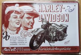 Metaalplaat Harley Davidson 750 CCM