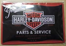 Metaalplaat Harley Davidson Parts & Service