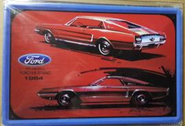 Metaalplaat Ford Mustang 1964