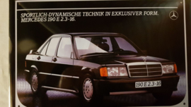 Metaalplaat Mercedes 190 E 2.3-16
