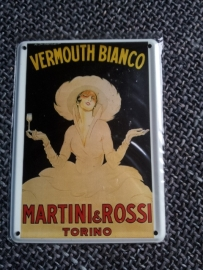 Metaalplaatje Martini 8 x 11 cm