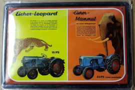 Metaalplaat Eicher-Leopard/Mammut