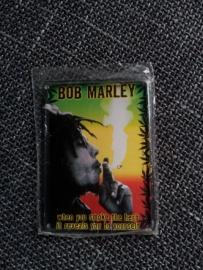 Metaalplaatje Bob Marley 8 x 11 cm
