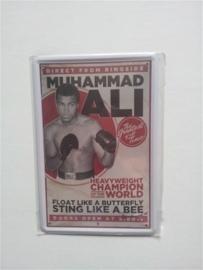 Metaalplaat Muhammed Ali