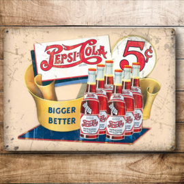 Metaalplaat Pepsi Cola