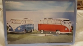 Metaalplaat Volkswagen busjes
