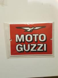 Emaille logo plaatje Guzzi