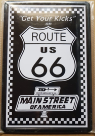 Metaalplaat Route 66