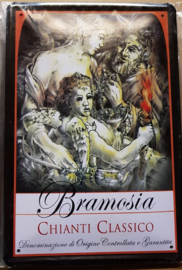 Metaalplaat wijn Bramosia Chianti Classico