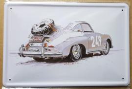 Metaalplaat Porsche 249