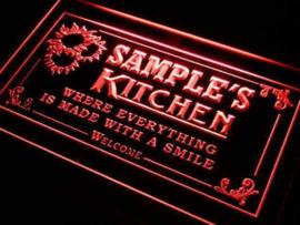 """3D ledverlichting """"kitchen"""" te personaliseren met je eigen naam"""