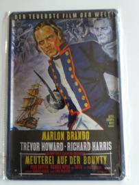 Metaalplaat Marlon Brando