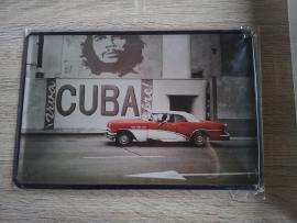 Metaalplaat Cuba