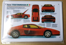 Metaalplaat Ferrari Testarossa