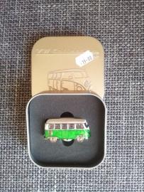 Magneet in 3D groen busje