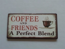 "Magneet spreuk ""coffee and friends"""