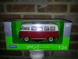 Schaalmodel 1963 Volkswagen Bus T1  1/24