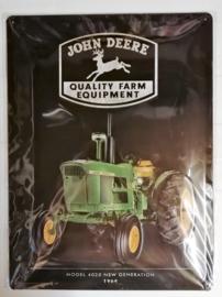 Metaalplaat John Deere Parking
