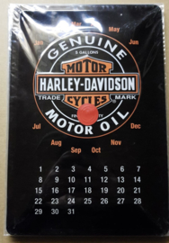 Metaalplaat Harley Davidson Kalender