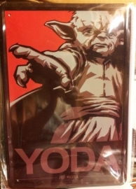 Metaalplaat Star Wars Yoda