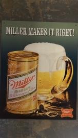 Metaalplaat  Miller