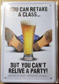 """Metaalplaat bier """"spreuk"""""""