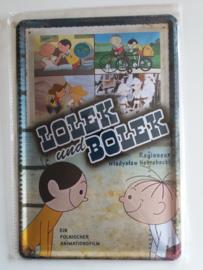 Metaalplaat Lolek en Bolek