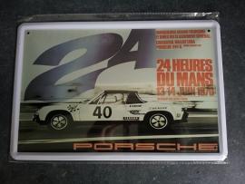 Metaalplaat Porsche 24 Heures du Mans