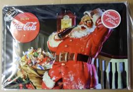Metaalplaat Coca Cola kerstman Limited Edition