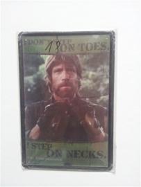 Metaalplaat Chuck Norris