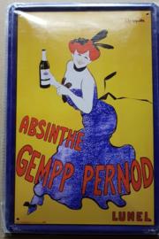 Metaalplaat Absinthe Gempp Pernod