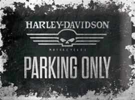 Metaalplaat Harley Davidson Parking Only