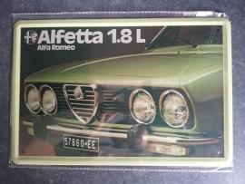 Metaalplaat Alfa Romeo Alfetta 1.8L