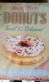 Metaalplaat Donuts