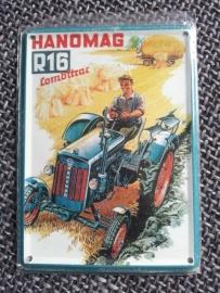 Metaalplaatje Hanomag 8 x 11 cm  R16 Combitrac
