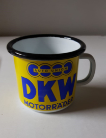 Tas/mok in emaille DKW