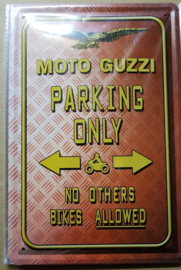 Metaalplaat Guzzi Parking Only