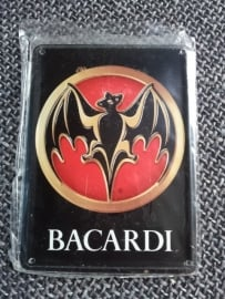 Metaalplaatje Bacardi 8 x 11 cm