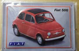 Metaalplaat Fiat 500
