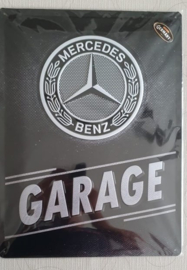 Metaalplaat Mercedes Benz Garage 30 x 40 cm
