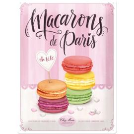 Metaalplaat Macarons